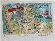 Sale 8756A - Lot 5019 - Peter Kingston (1943 - ) - Konkers, 1988 38 x 28.5cm