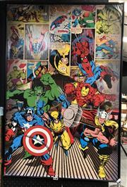 Sale 8865 - Lot 2036 - Framed Avengers Comic Print