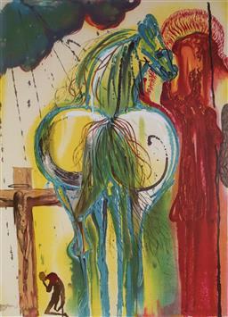 Sale 9080A - Lot 5047 - Salvador Dali (1904 - 1989) - Le Centurion 55 x 37 cm (frame: 76 x 59 x 3 cm)