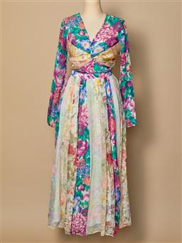 Sale 9093F - Lot 19 - A Zimmerman silk floral multicoloured long floaty dress, size 1