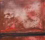 Sale 8358 - Lot 562 - Stanislaus (Stan) Rapotec (1913 - 1997) - Red Centre, 1966 122 x 137cm