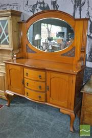 Sale 8383 - Lot 1359 - Maple Mirrored Back Sideboard