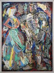 Sale 8411A - Lot 5012 - Maximilian Feuerring (1896 - 1985) - The Ancestors, 1961 120 x 90cm