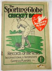 Sale 8460C - Lot 29 - Sporting Globe Cricket Book 1928–29. Record of the Tests etc. Compiled by E. Baillie, Herald and Weekly Times. Melbourne. 130 pages,...
