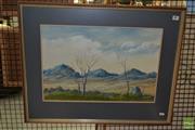 Sale 8506 - Lot 2079 - Phil Jones - Barrier Hills 36 x 54cm
