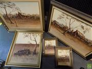 Sale 8561 - Lot 2081 - Gloria Taylor (5 works) Australian Landscape Scenes, acrylic paintings, each signed (various sizes, framed) -