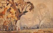 Sale 8631 - Lot 2035 - Alfred Chambers - Cattle Grazing, watercolour, 30 x 47.5cm, signed lower right