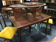 Sale 8643 - Lot 1009 - Younger Afromosia Teak Table with 4 Chairs