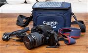 Sale 8694A - Lot 61 - A canon EOS 500 in fitted case with instruction manual