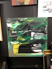 Sale 8807 - Lot 2097 - Anton Pulvirenti - Untitled (Abstract Green) oil on canvas 76.5 x 76.5cm, unsigned -