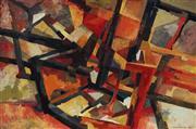 Sale 8980A - Lot 5008 - Una Foster (1912 - 1996) - Spatial Conflict, 1969 50.5 x 76 cm (frame: 54 x 79 x 4 cm)