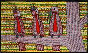 Sale 9013 - Lot 531 - Robert Campbell Junior (1944 - 1993) - Kookaburras, 1989 58 x 96.5 cm (frame: 61 x 100 x 4 cm)