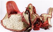 Sale 9015 - Lot 27 - A Ceremonial Ethnographic Moroccan Horse Saddle Including Blanket, Bridles
