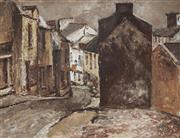 Sale 9067 - Lot 559 - George Feather Lawrence (1901 - 1981) - European Street Scene 27 x 36 cm (frame: 33 x 42 x 4 cm)