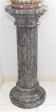 Sale 8338A - Lot 72 - An oversized pair of green marble pedestals, H 100 x D 40cm