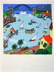 Sale 8330A - Lot 12 - Peter Kingston (1943 - ) - The North Shore Line, 2011 56 x 55cm