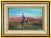 Sale 8344 - Lot 564 - Hugh Sawrey (1919 - 1999) - Man with Pack Horse 18.5 x 28.5cm