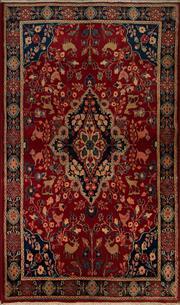Sale 8406C - Lot 45 - Persian Kashan 210cm x 125cm