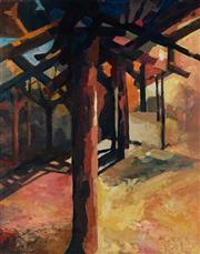 Sale 8980A - Lot 5009 - Una Foster (1912 - 1996) - Central Column, 1969 76 x 61 cm (frame: 79 x 64 x 4 cm)