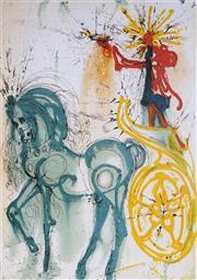Sale 8985A - Lot 5008 - Salvador Dali (1904 - 1989) - Le Cheval De Triomphe 55 x 37 cm (frame: 76 x 59 x 3 cm)