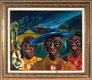 Sale 9004 - Lot 2005 - Bridget B - Caribbean Scene 50 x 59 cm (frame: 67 x 76 x 4 cm)