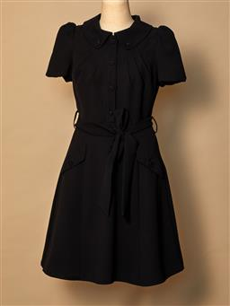 Sale 9093F - Lot 87 - A Paul & Joe black dress with belt, size 38