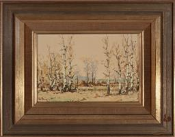 Sale 9127 - Lot 2050 - Jozsef Csillag (1894 - 1977) Winter Landscape I oil on board 11.5 x 16.5 cm (frame: 23 x 28 x 3 cm) signed lower left