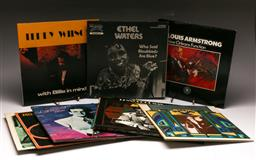 Sale 9136 - Lot 30 - A collection of mostly jazz LP records including Ethel Waters, Louis Armstrong