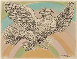 Sale 9212A - Lot 5042 - PABLO PICASSO (1881 - 1973) Colombe Volant (Flying Dove), 1952 colour lithograph 50 x 64.5 cm (frame: 85 x 104 x 4 cm) signed in stone