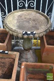 Sale 8310 - Lot 1643 - Sandstone Bird bath