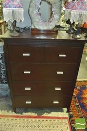 Sale 8352 - Lot 1070 - Four Piece Timber Bedroom Setting incl. Chest of Drawers, Mirrored Back Sideboard & Pair of Bedsides