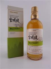 Sale 8479 - Lot 1734 - 1x Nikka Whisky Miyagikyo Single Malt Japanese Whisky - Malty & Soft, 500ml in box