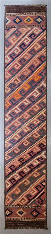 Sale 8480C - Lot 98 - Turkish Kilim Runner 345cm x 64cm