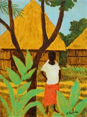 Sale 8549 - Lot 550 - Ray Crooke (1922 - 2015) - Island Scene 39.5 x 29.5cm