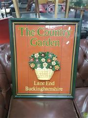Sale 8648C - Lot 1049 - The Country Garden, Cafe Sign