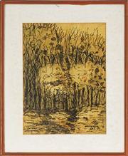 Sale 8811 - Lot 2012 - Stan de Teliga (1924 - 1998) - Autumn, England, 1971 37.5 x 27.5cm