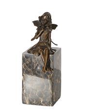 Sale 9034A - Lot 5093 - Fairy, bronze sculpture on marble base After Collet, H 23 cm