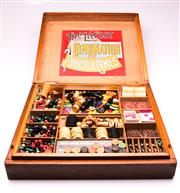 Sale 9081 - Lot 16 - Early 20th Century The Latest Combination of Parlour Games Boxed Set Together With Seven Original Games Boards