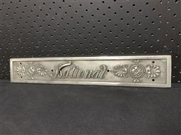Sale 9117 - Lot 1048 - Chrome NATIONAL cash register plaque (h:7 x w:43cm)
