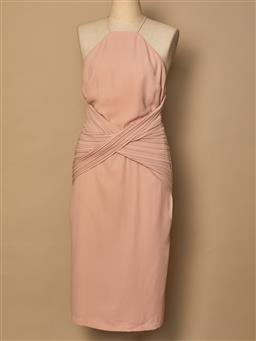 Sale 9093F - Lot 18 - A Dion Lee flesh coloured knee length halter neck style dress, size 10