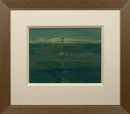 Sale 9150J - Lot 97 - JOHN OLSEN (1928 - ) Spoonbill & Bird Watchers mixed media 39 x 52 cm signed lower right
