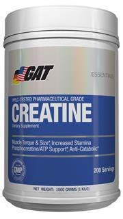Sale 8288B - Lot 65 - 2x GAT 100% Creatine, 1Kg RRP $49.95 Each