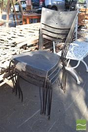 Sale 8390 - Lot 1356 - Set Of Eight Metal Chairs