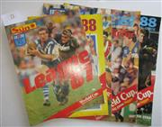 Sale 8404S - Lot 71 - The Sun Souvenirs for League 1987 and League 1988, 28-30 pages each and Daily Mirror Official NSW Rugby League Guides for 1987, 1988...