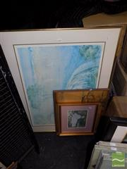 Sale 8474 - Lot 2090 - 4 Framed Prints, Lloyd Reece, Monet, etc