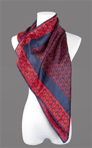 Sale 8493A - Lot 66 - A black and red silk Christian Dior, 65cm x 65cm