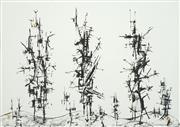 Sale 8504 - Lot 552 - Robert Klippel (1920 - 2001) - Structures in a Landscape, 1965 57.5 x 79.5cm