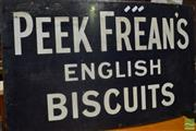 Sale 8528 - Lot 1005 - Enamel Peek Freands Biscuits Sign
