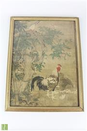 Sale 8568 - Lot 88 - Framed Chinese Picture Of A Rooster