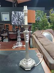 Sale 8601 - Lot 1448 - Silver Coloured Table Lamp Base